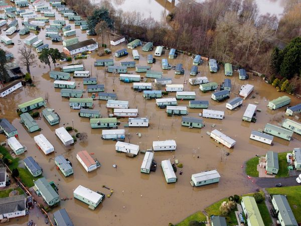 The Riverway Caravan Park in Bridgnorth was among many areas flooded by the River Severn