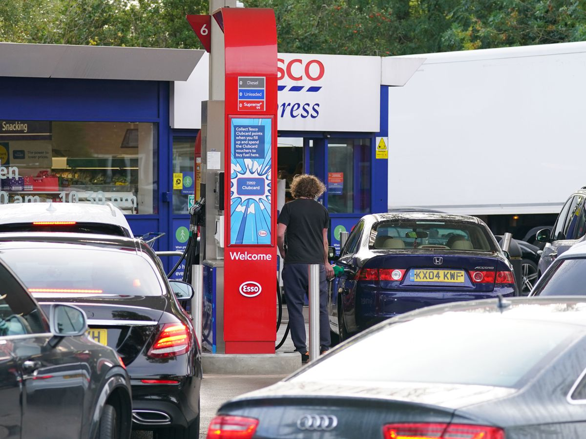 There are still queues at the pumps