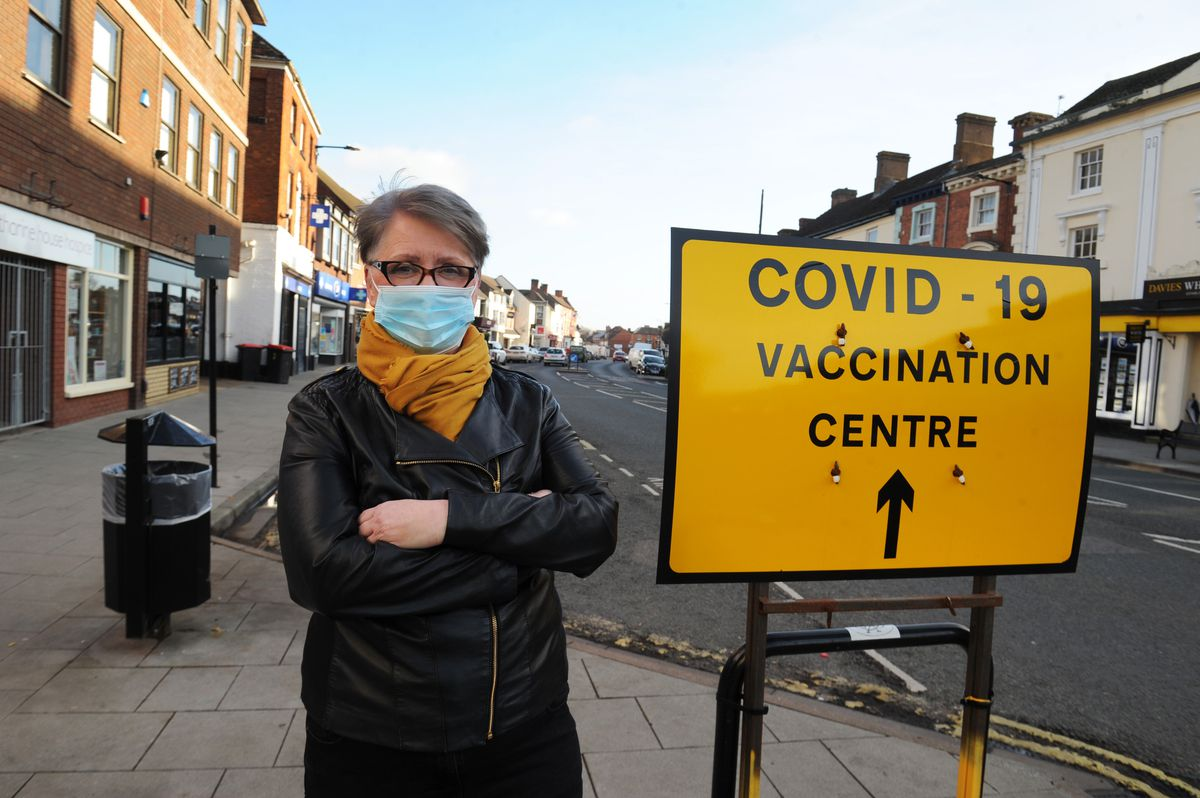Carer Silvia Catterall in Newport High Street