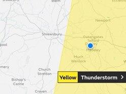 Thunderstorms warning for Shropshire