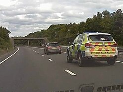 130mph Shropshire to Walsall police chase ends with M6 stinger