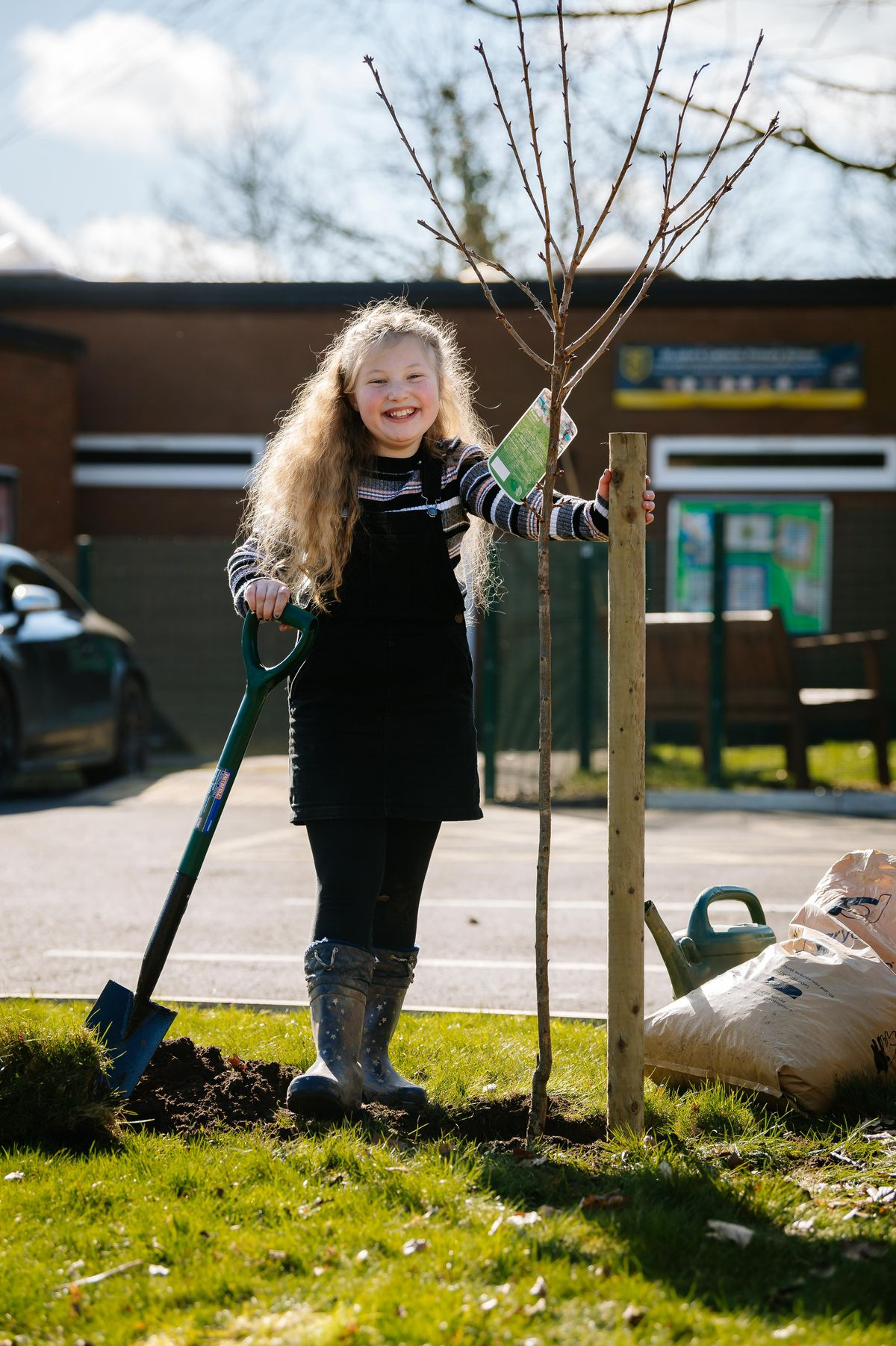 Lara Neal, 10, planted her first tree at St Johns RC Primary School in Bridgnorth
