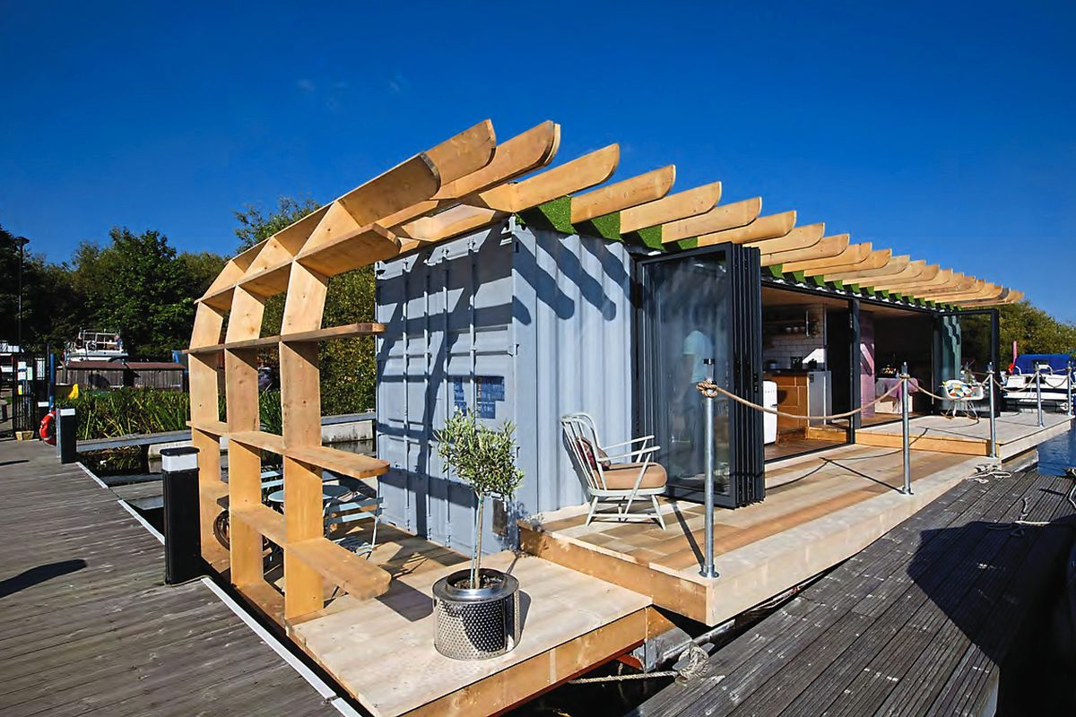 The shipping container home of TV presenter Max McMurdo
