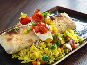 It's a wrap – chicken chimichanga with rice was a hearty and filling dish