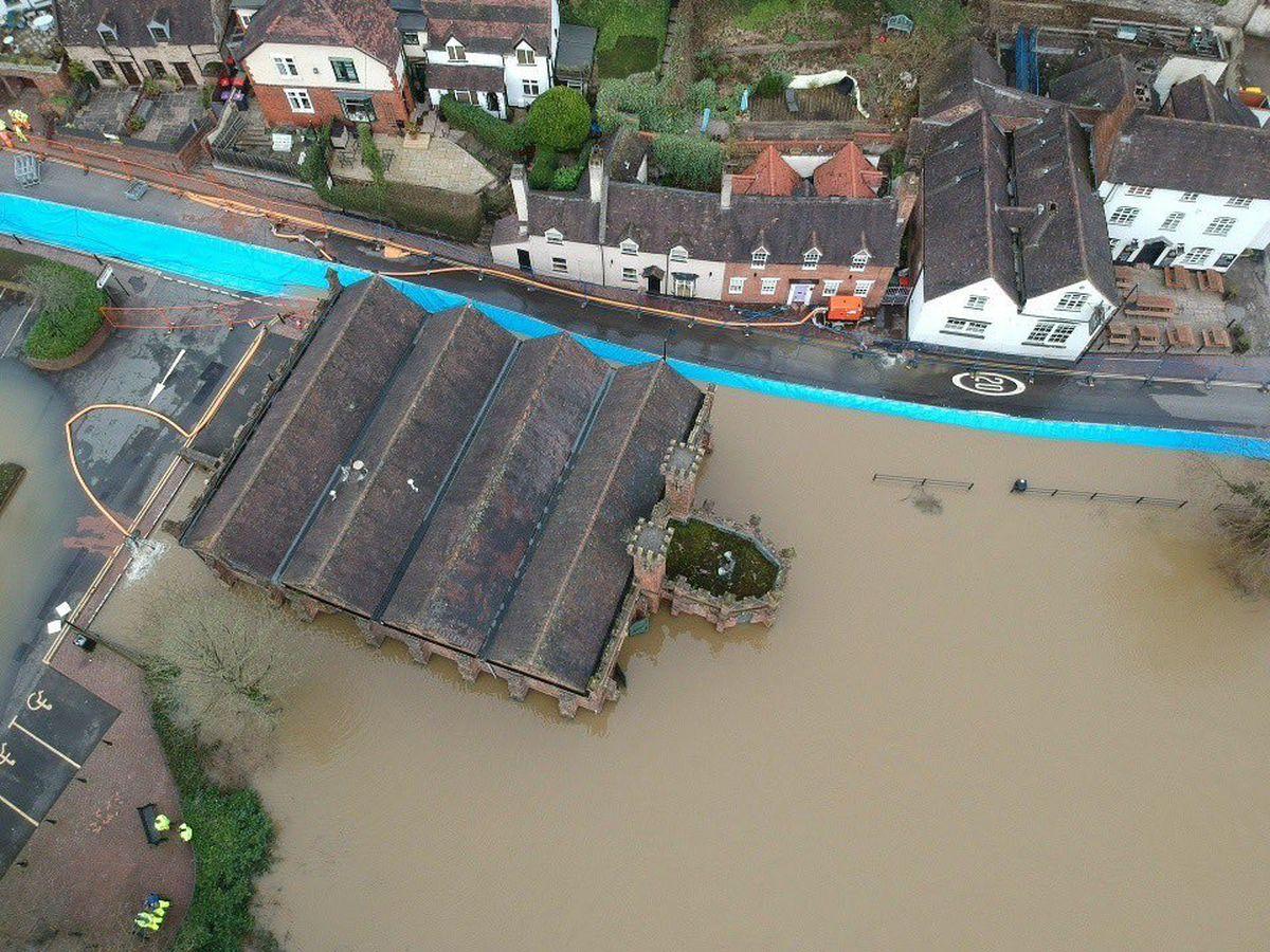 Aerial photos show the scene in Ironbridge on Tuesday. Photo: @Fatheadchris