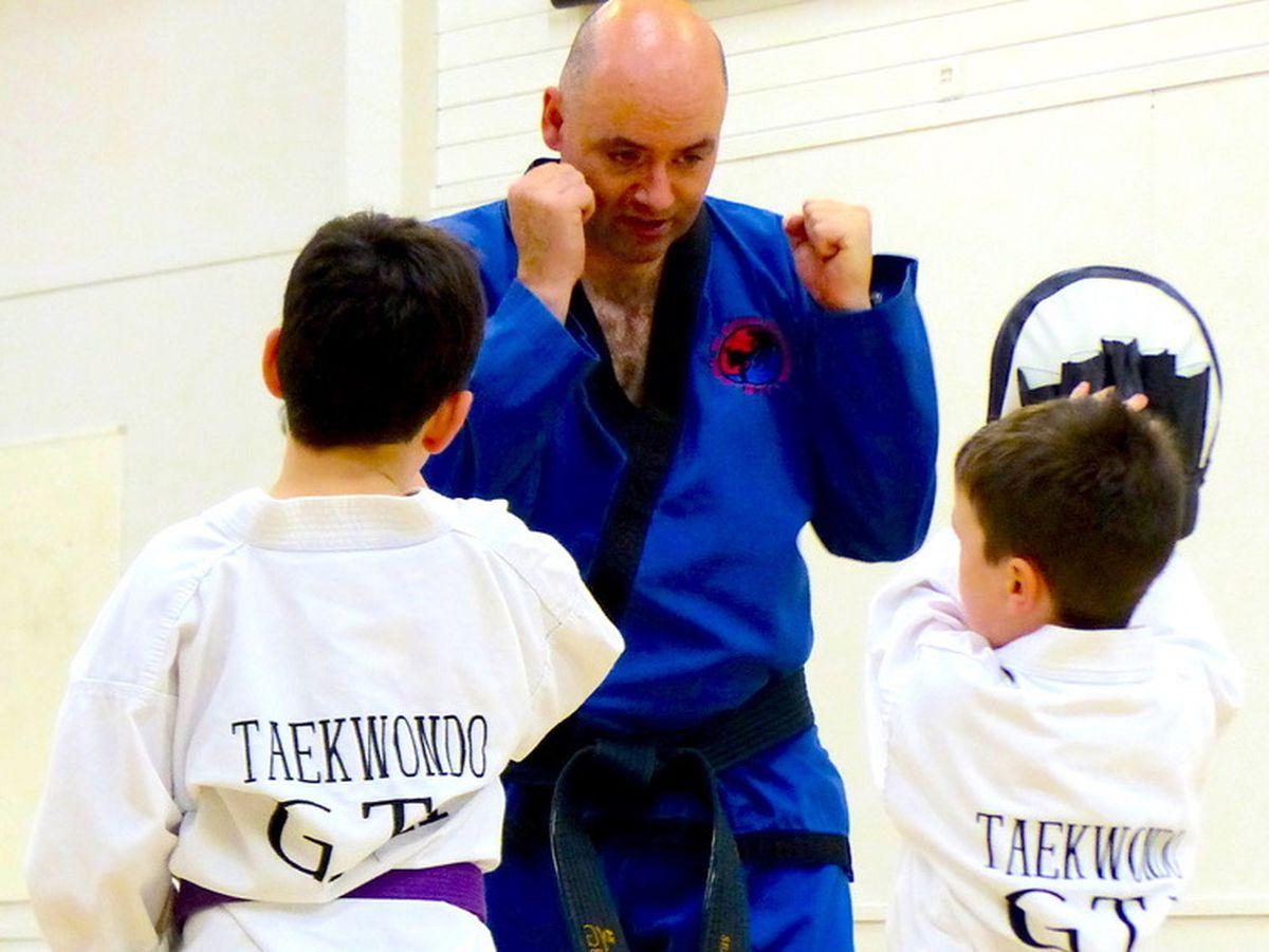 Seamus McGinley, chief instructor, coaching the juniors at Excalibur Martial Arts