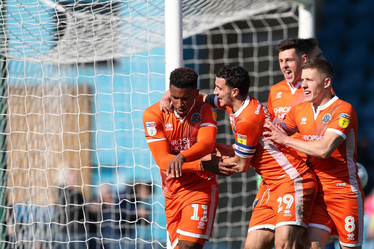Tyrese Campbell enjoys the celebrations with his Town team-mates (AMA)