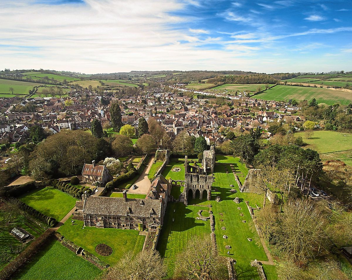 The Wenlock Priory captured looking stunning by Shropshire-based group the Drone Rangers, who have released a series of images