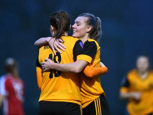 Action from the FA Cup clash between Wolves Women and Stourbridge Ladies