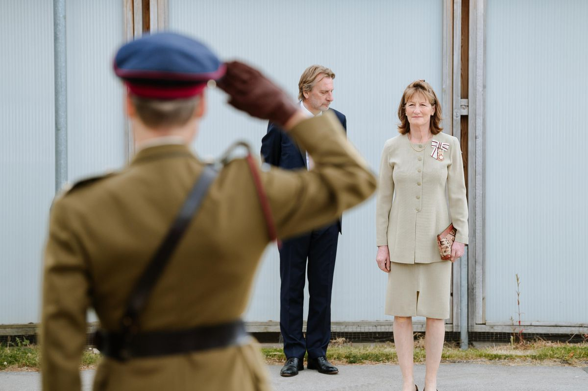 The Lord-Lieutenant of Shropshire Anna Turner at the ceremony