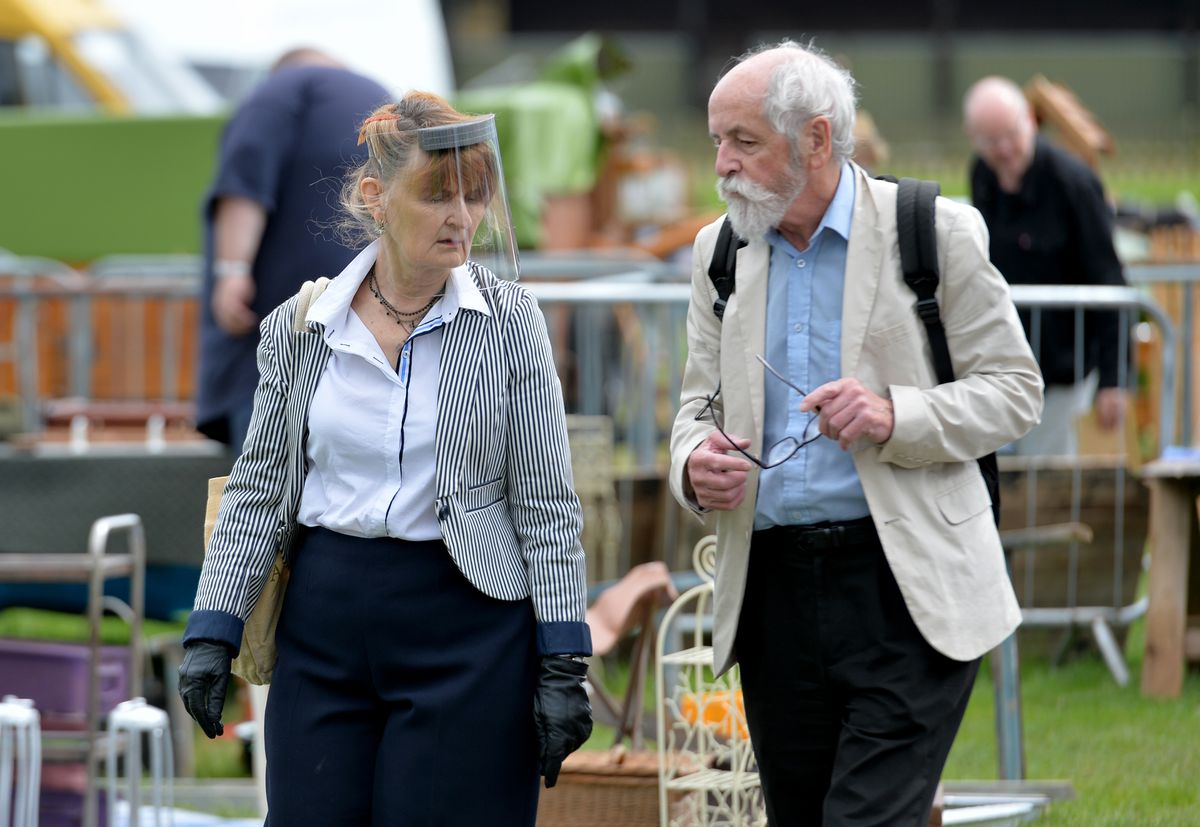 Visitors at the first antiques fair at West Midlands Showground Shrewsbury since lockdown