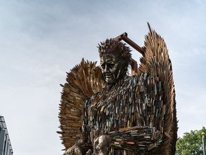 The Knife Angel in Chelmsford  to raise awareness against knife crime