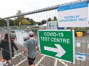 A Covid-19 testing centre in Lisburn, Northern Ireland