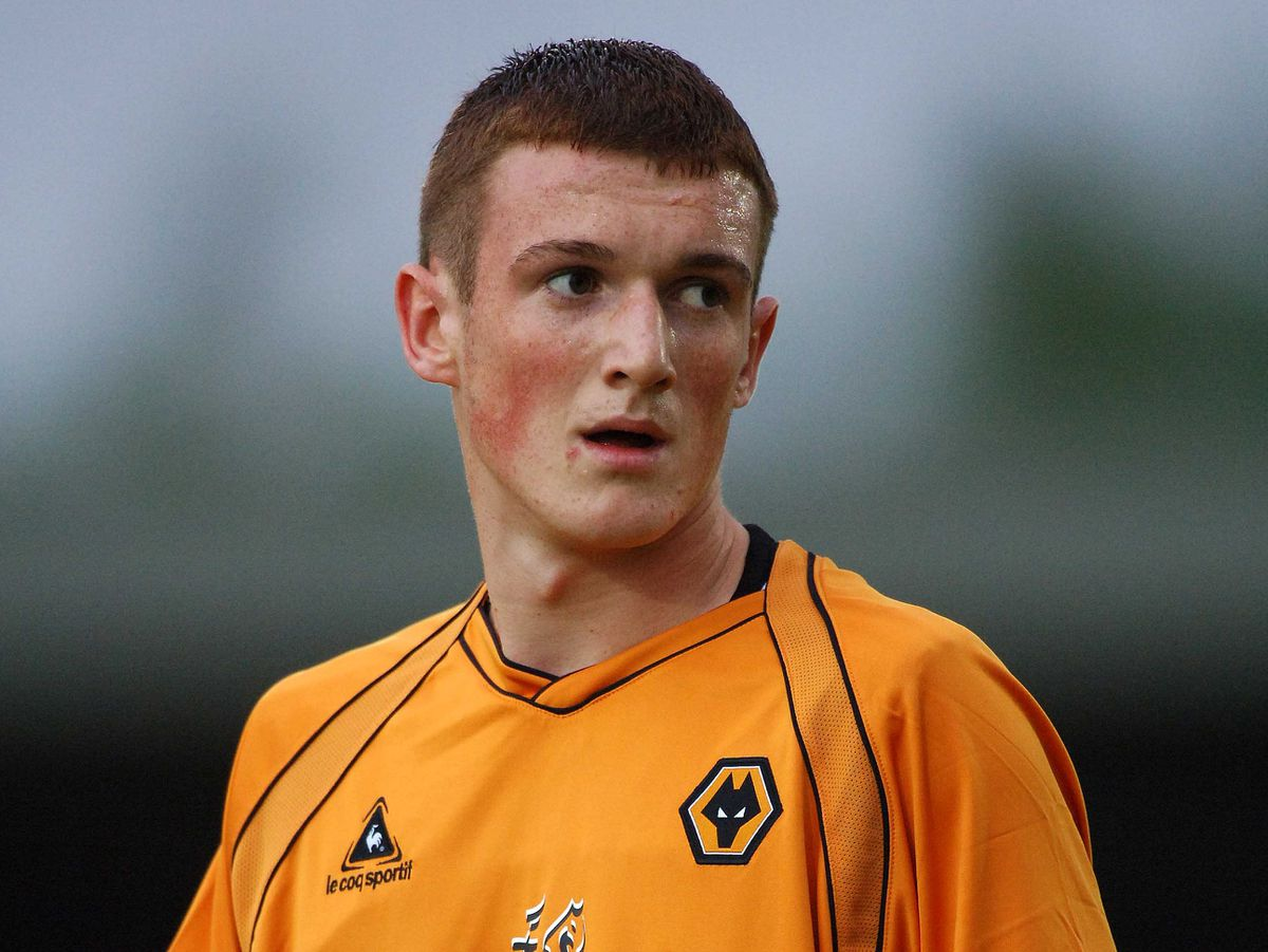 Lee Collins, picture playing for Wolves against Hednesford in 2006