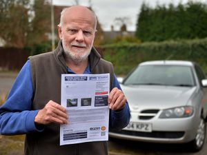 Terry Rickard with his parking ticket