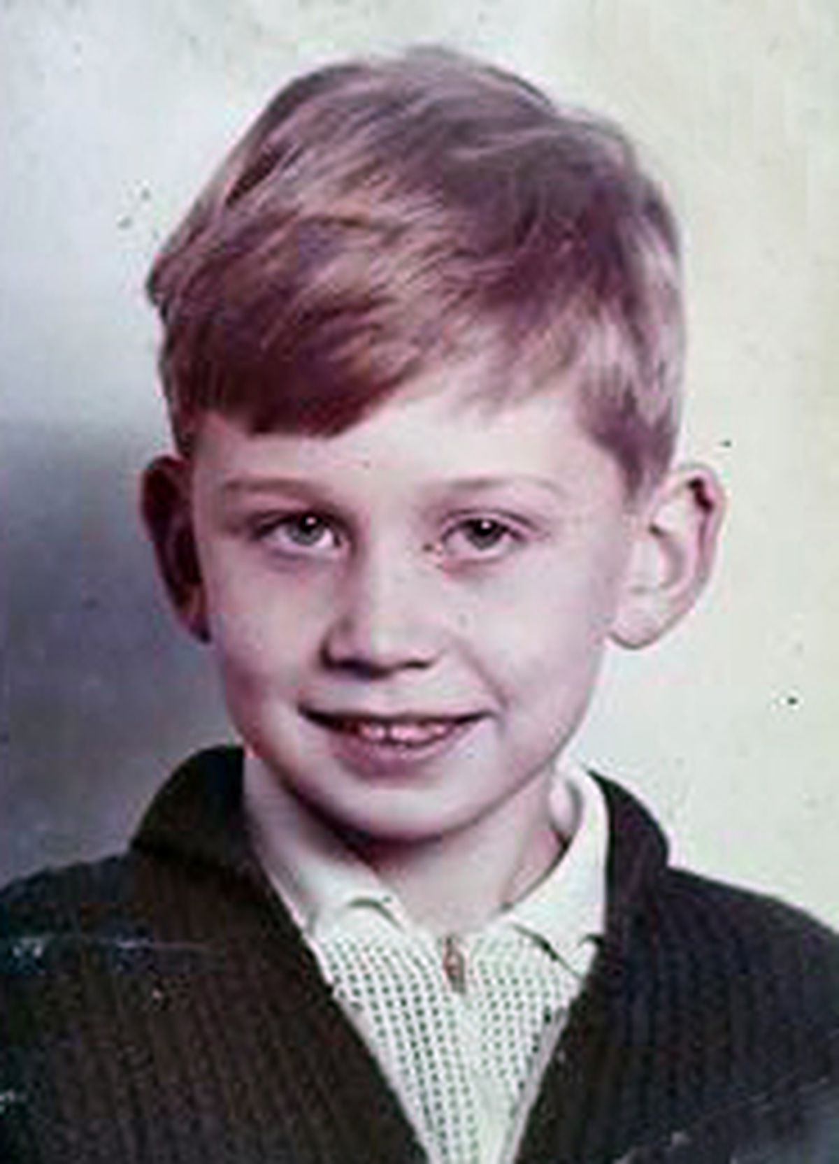 Pete Edwards as a pupil at the school in late 1967 or early 1968.