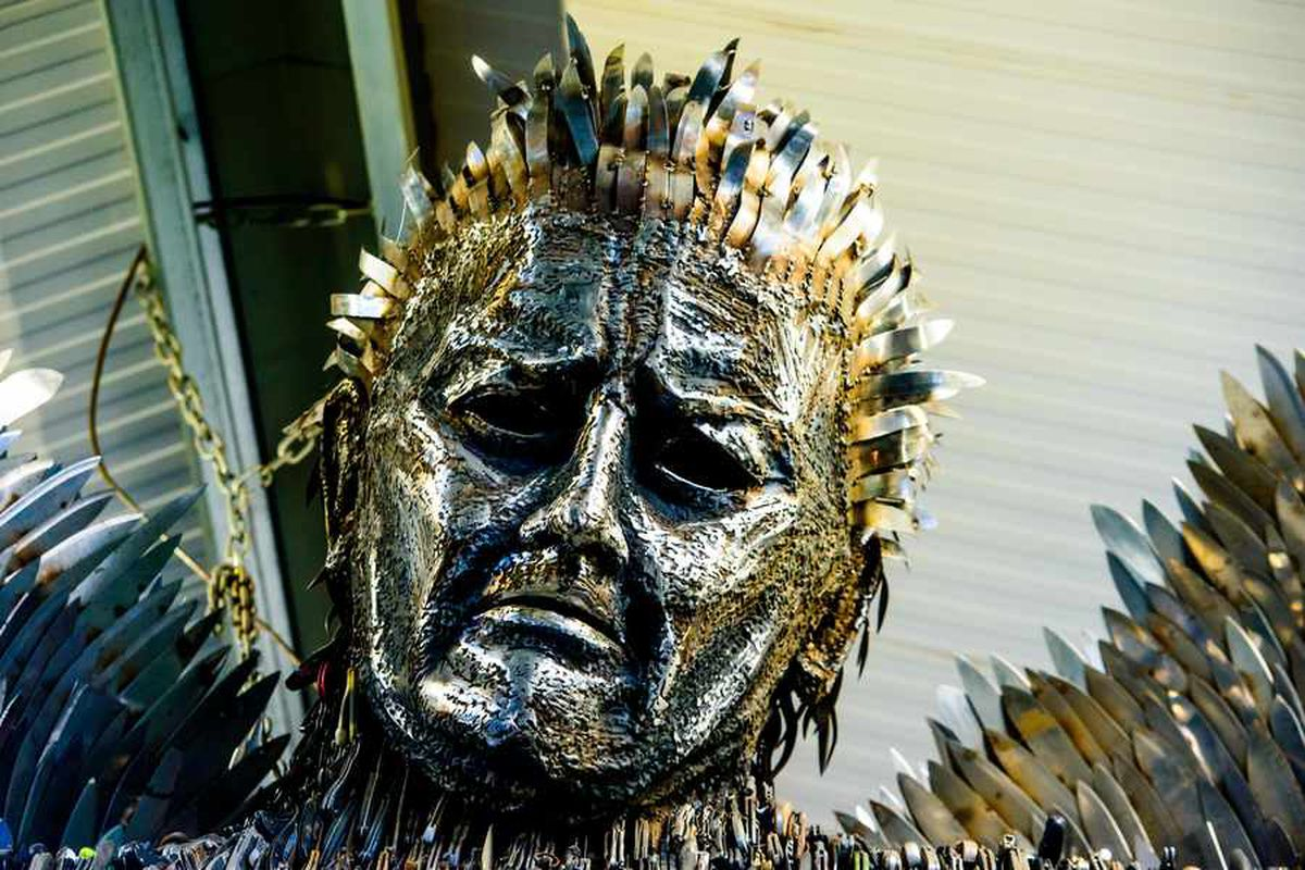 The face of the Knife Angel