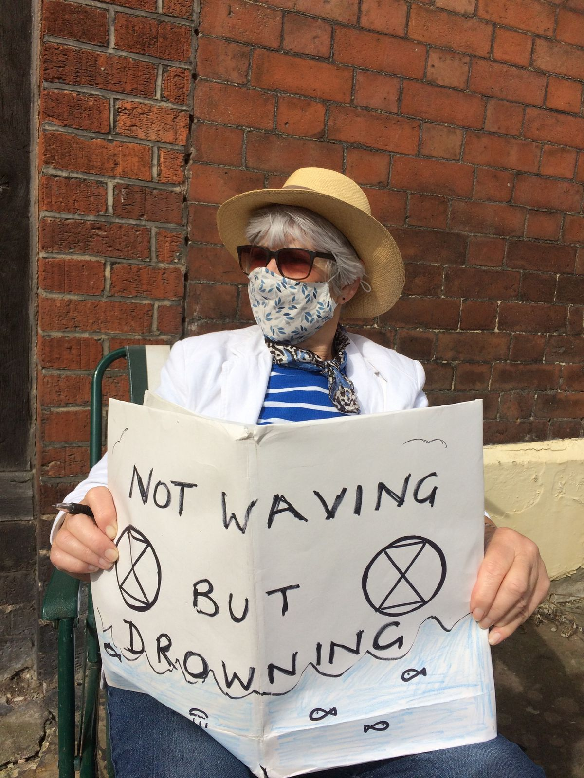 The protest in Ludlow