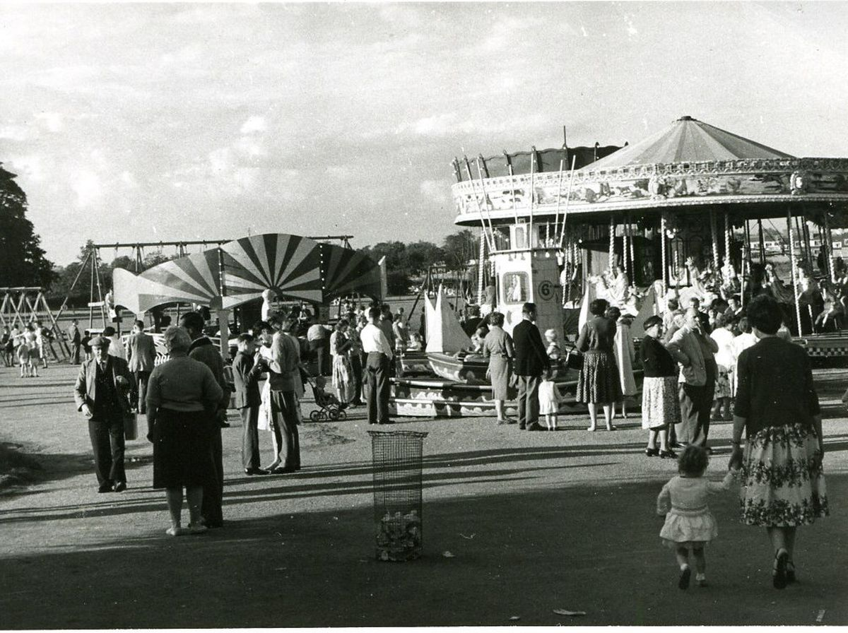 Drayton Manor pictured in 1956