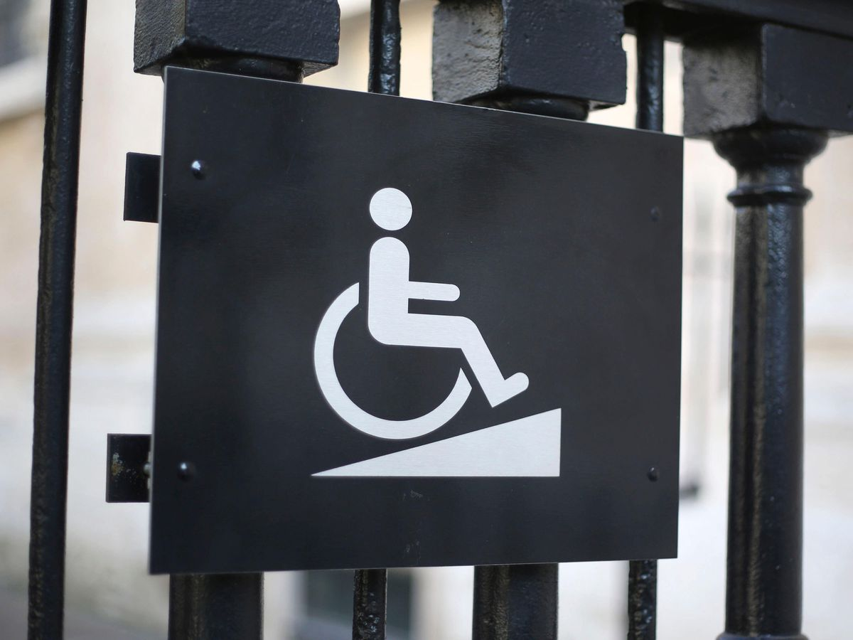 A sign for disabled access (Philip Toscano/PA)