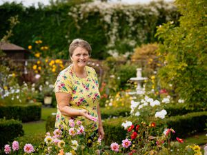 Carolyn Wood, from Ludlow is the winner of the Virtual Ludlow in Bloom Back Garden competition