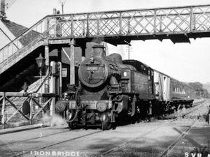 A steam train at Ironbridge railway station on the Severn Valley Railway. Photo: Ron Miles