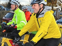 Big Shropshire welcome for BBC rickshaw cyclists