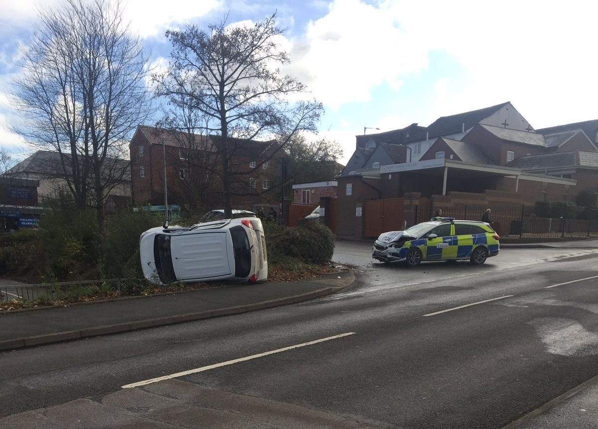 The crash happened at Victoria Road in Wellington