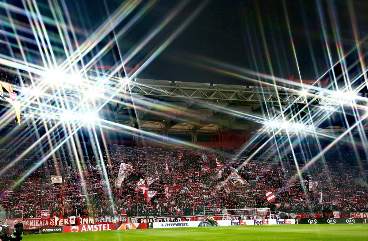 Olympiacos supporters.
