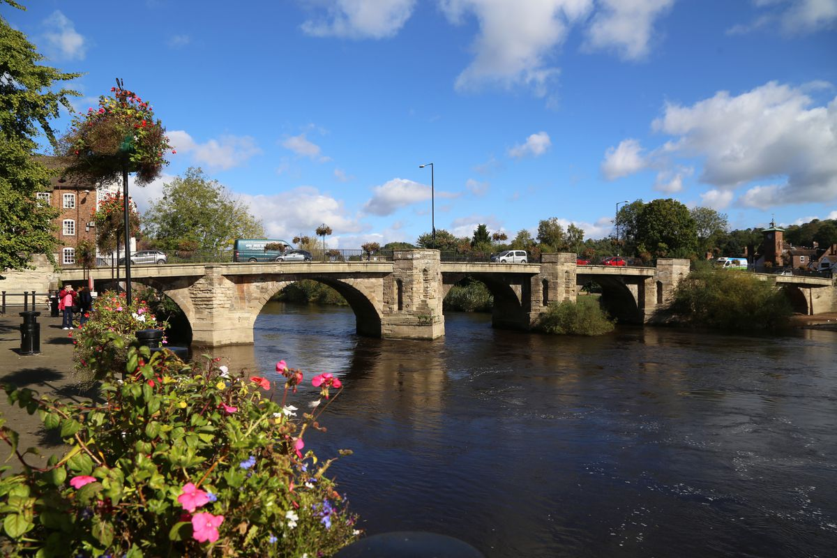 A group of naked men were running back and forth over this bridge in Bridgnorth