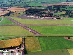 Tern Hill airfield was bombed during the war