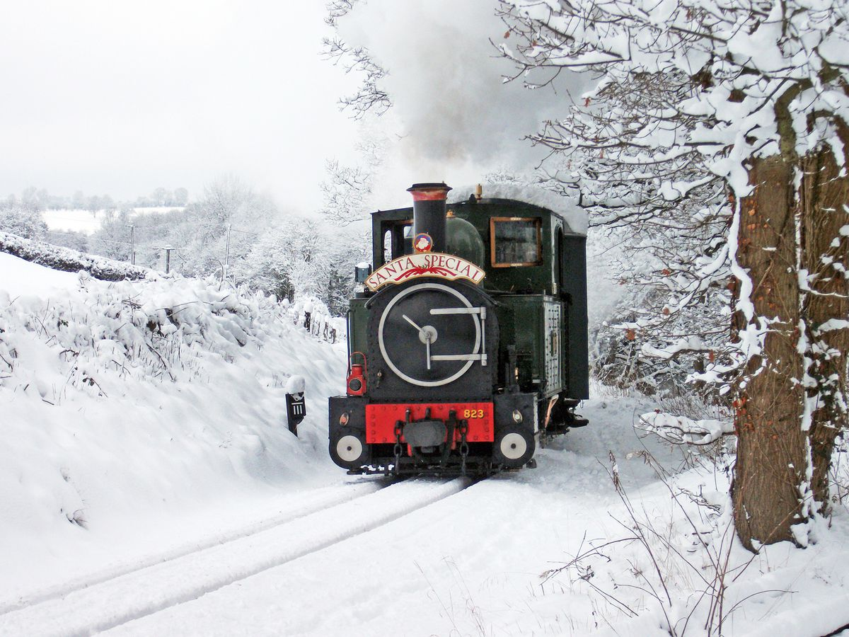 Whatever the weather, there will not be any Llanfair Line Santa Specials this December. Photo: Andrew Charman, Welshpool & Llanfair Light Railway