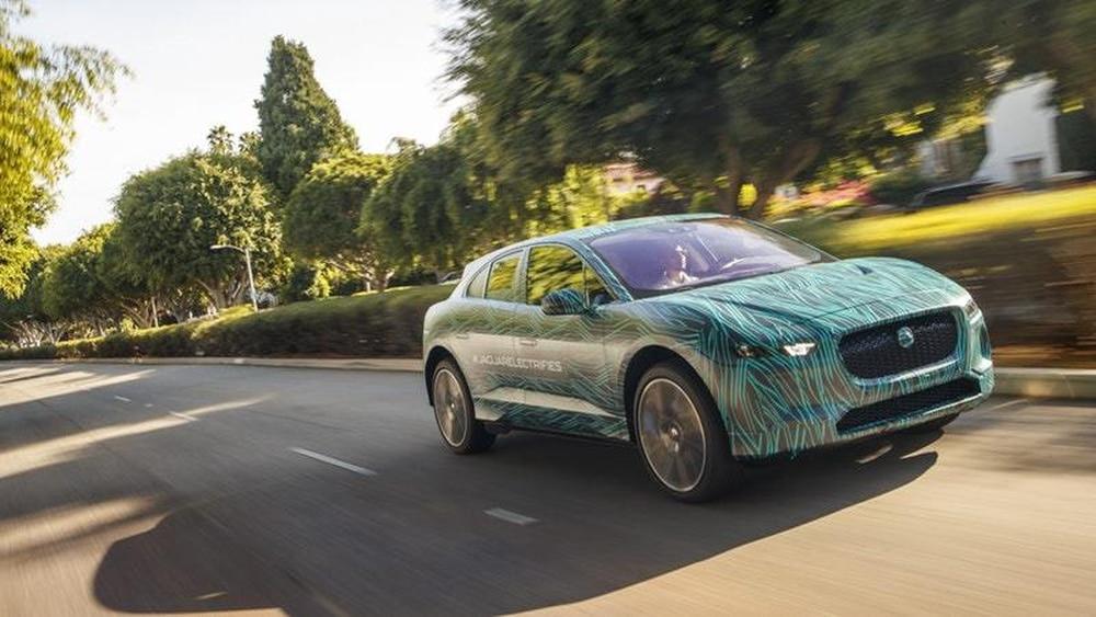 Jaguar drives an I-Pace prototype around LA