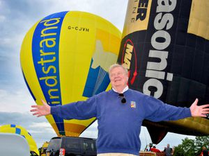 BORDER COPYRIGHT SHROPSHIRE STAR STEVE LEATH 25/08/2017  Oswestry and British Ironworks Centre, getting ready for Balloon festival.   Per Lindstrand.