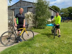 Neil Roberts (left) and Nick Challenor cycled to raise money for Motor Neurone Disease