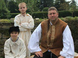 Ioan Utting as Cainy Ball, Dan Lewsey as Joseph Poorgrass, and Tom Humphreys as Gabriel Oak