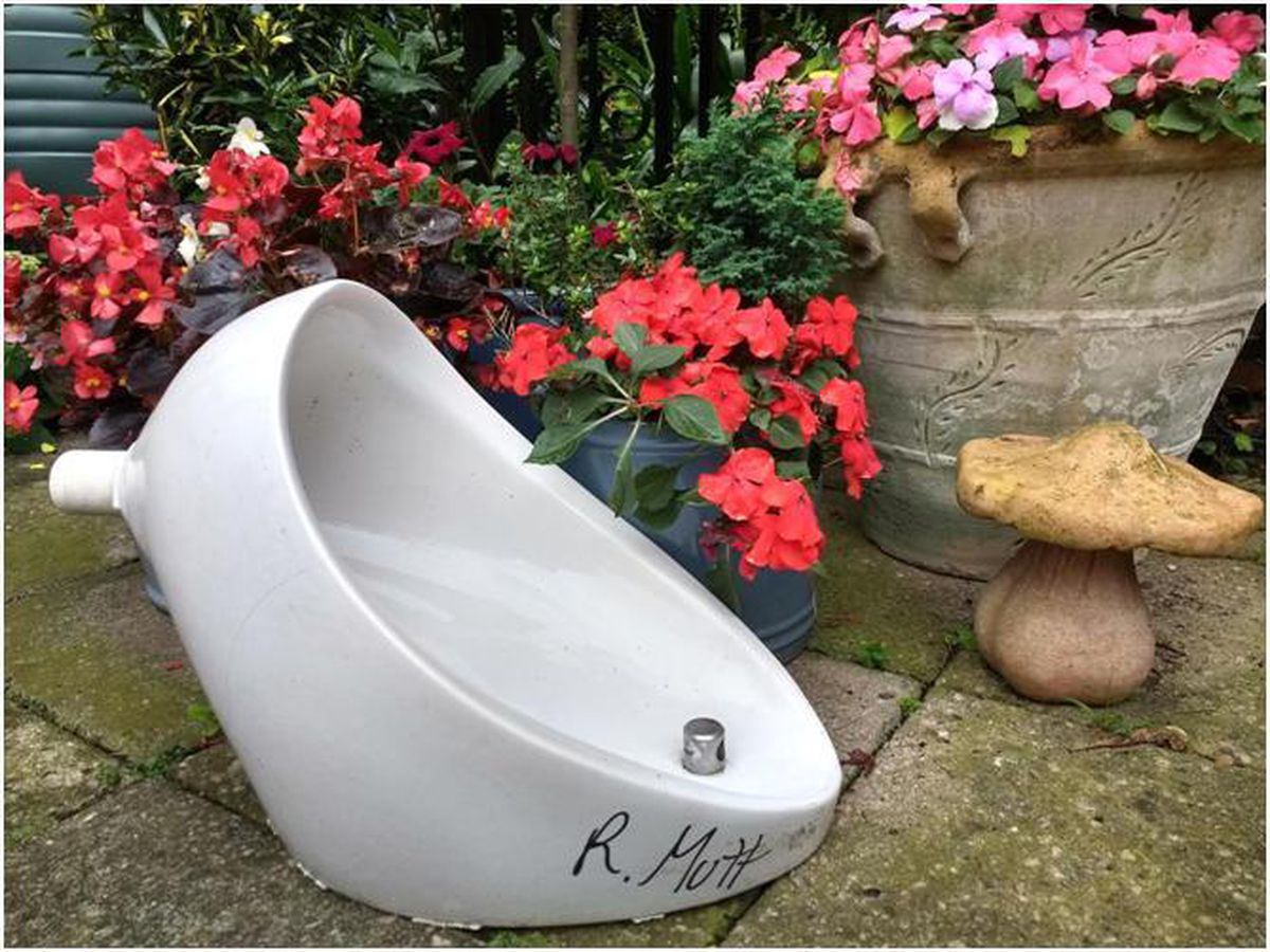A modern version of Duchamp's 'Fountain' which will go on display in Ludlow