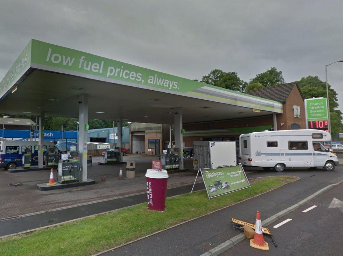 Church Stretton Service Station on the A49. Photo: Google