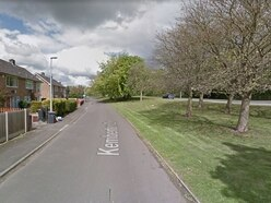 Pair receive care at the roadside after car hits tree in Telford