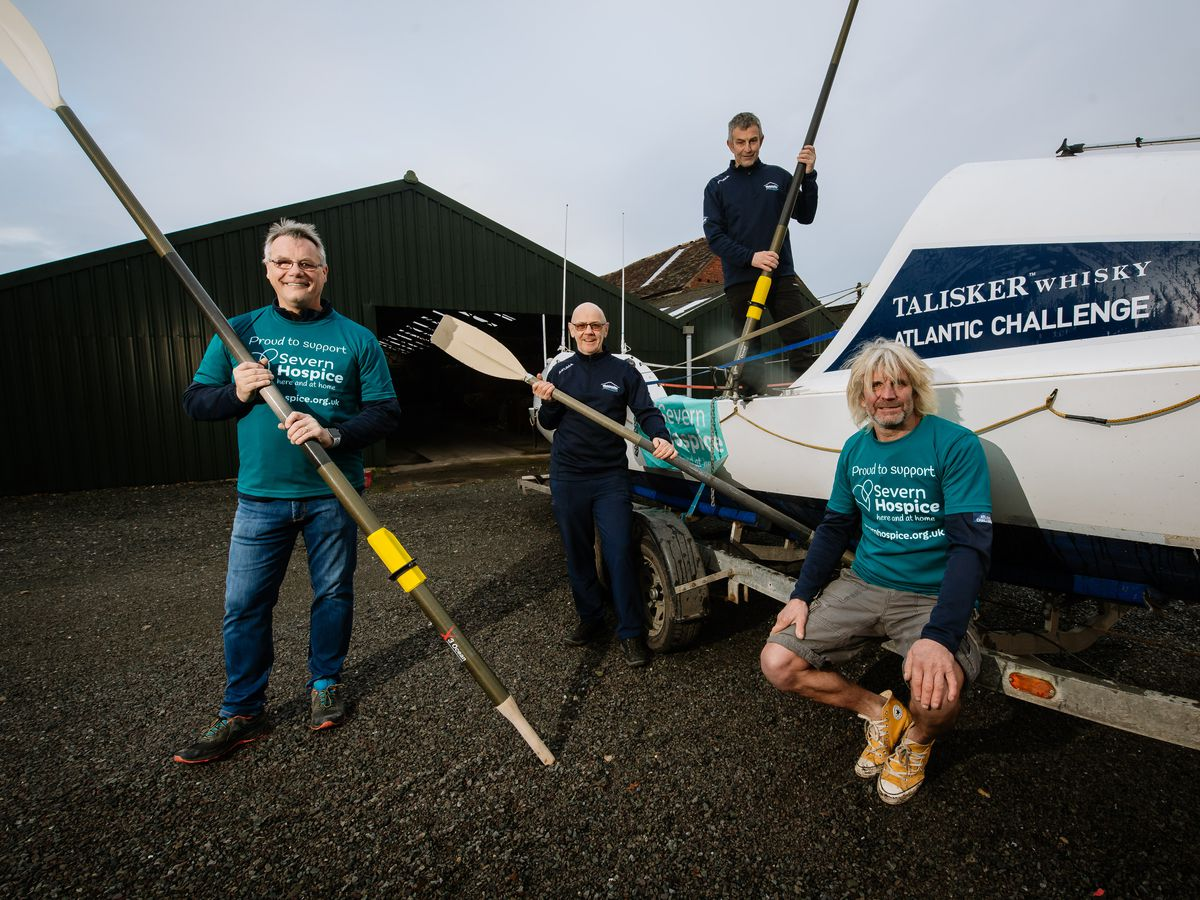 Preparing for the Talisker Whisky Atlantic Challenge are, from left, Stuart Shepherd, Martin Skehan, Stuart Richards and Gary Richards.