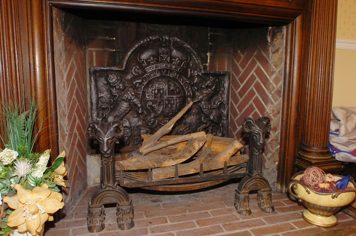 Fired up – the fireplace in Holbeache House Kingswinford where the conspirators met