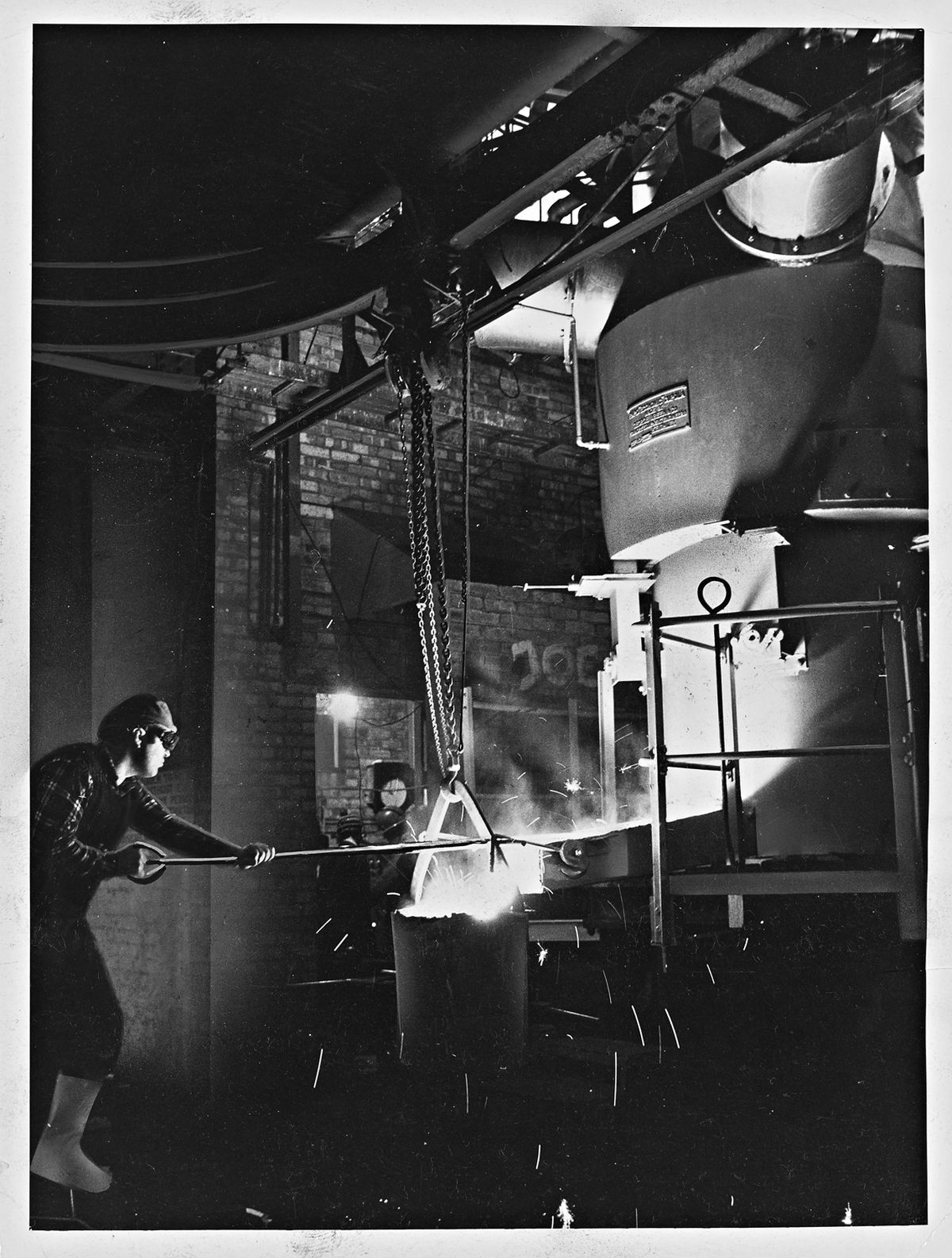 Serck Audco Valves Ltd, Newport – February 18, 1972. One of the first iron foundries in Britain to be converted to natural gas.