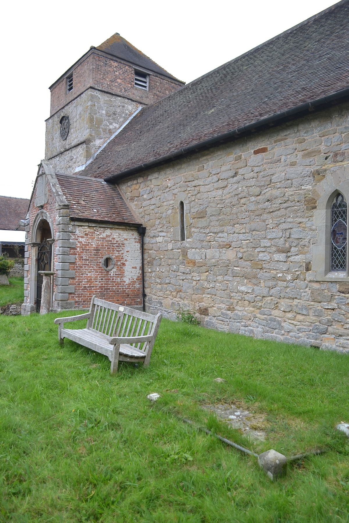 The grave of Tom Moody, right foreground, at Barrow church.