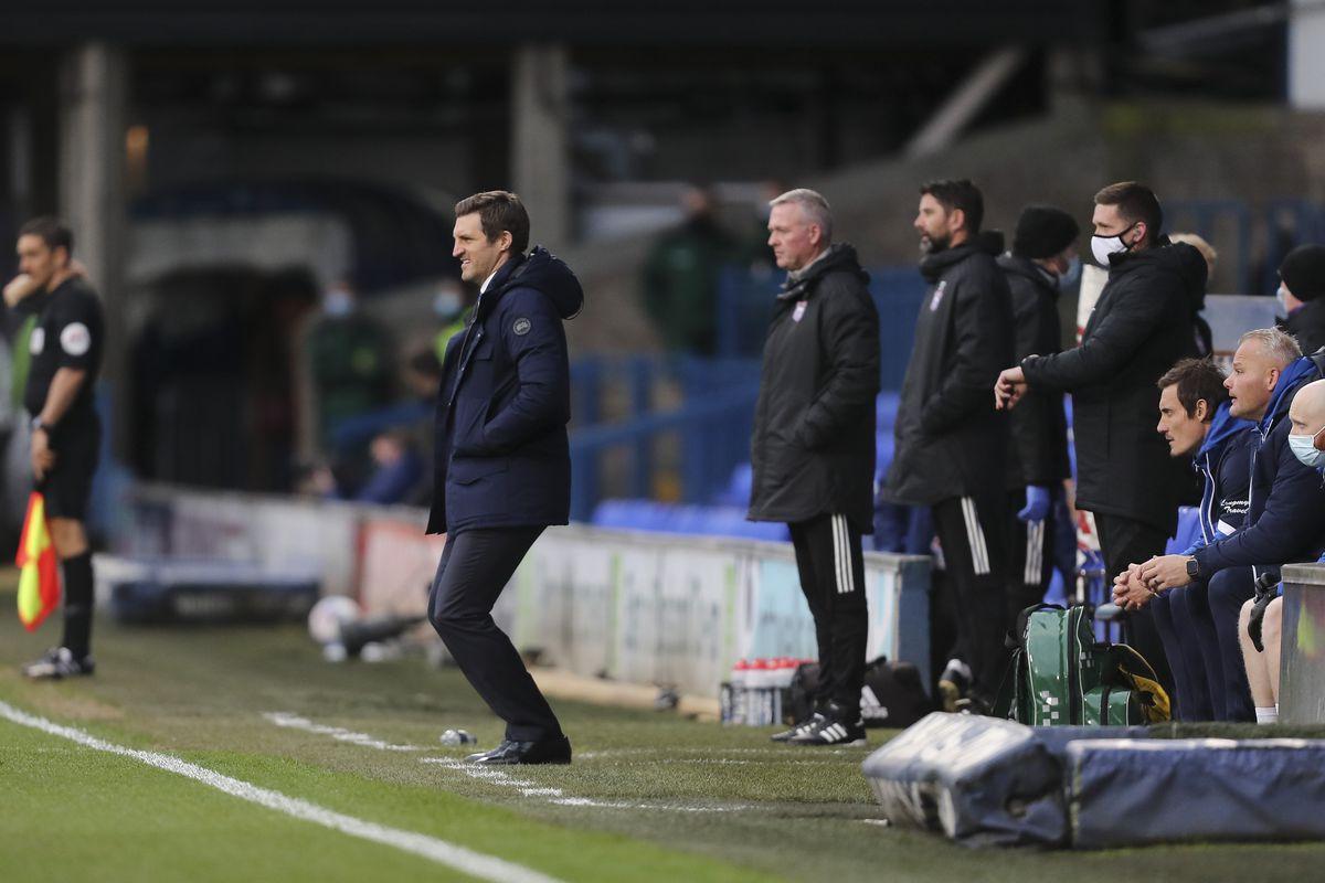 Sam Ricketts the head coach / manager of Shrewsbury Town (AMA)