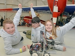 Students build cities in RAF Cosford robot challenge