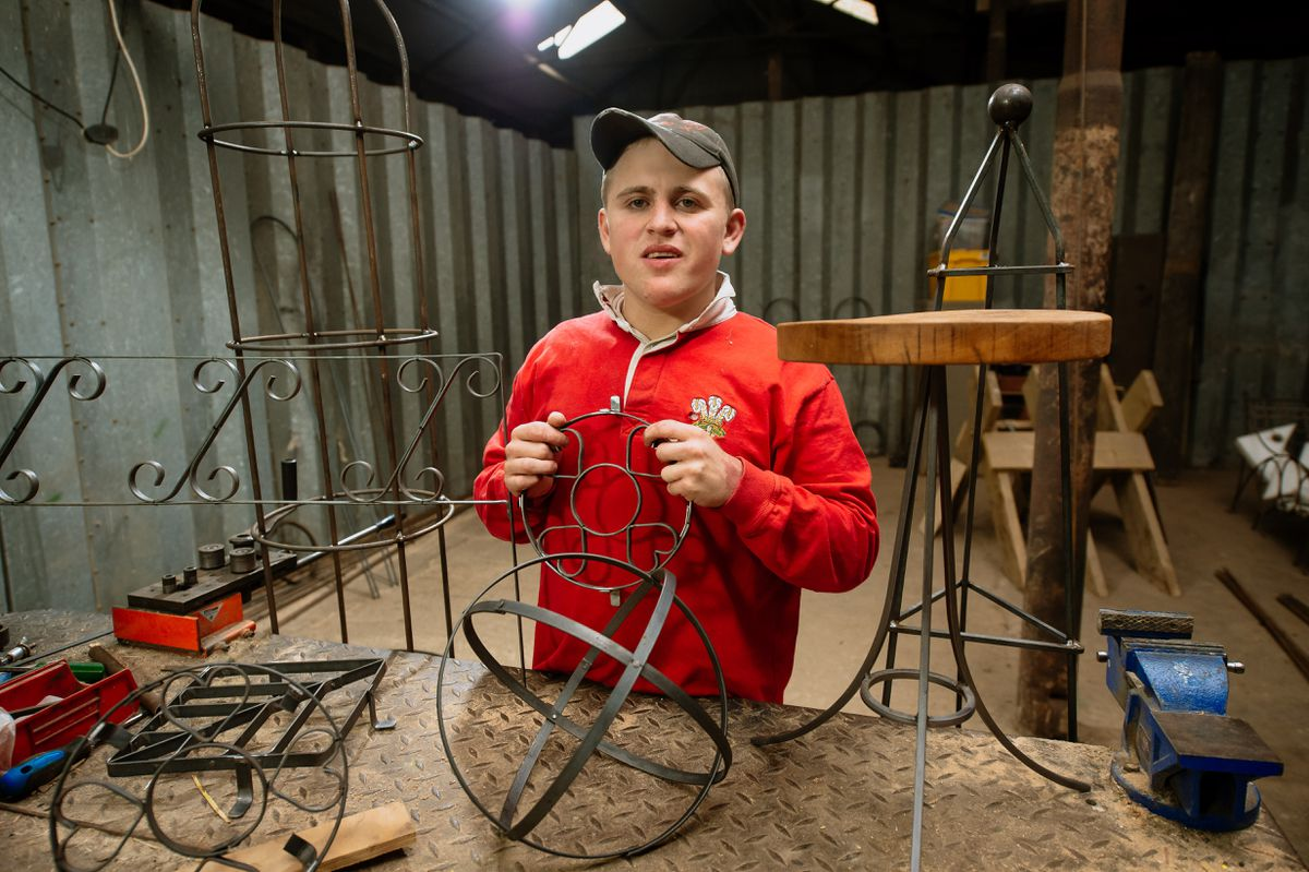 Charlie has enjoyed doing metalwork and has made tables and log baskets