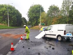Van damaged in crash near M54 in Telford