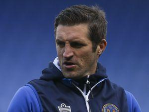 Sam Ricketts the head coach / manager of Shrewsbury Town. (AMA)