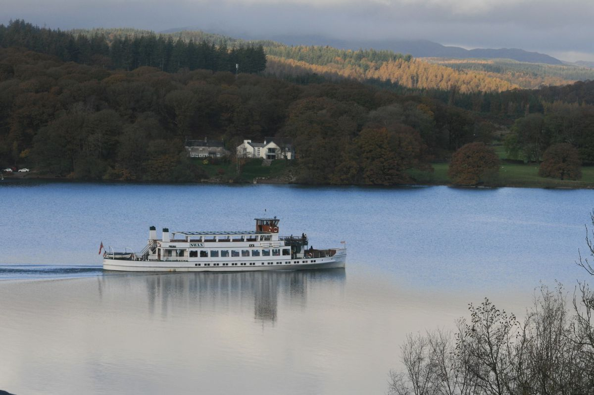 Our view of Windermere from our bedroom window