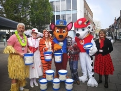 Royal party out and about on Paw Patrol collecting funds for Newport Carnival